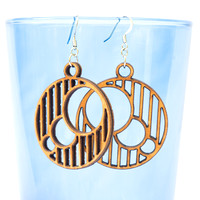 Stripes and Circles Earrings