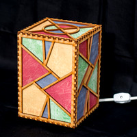 Triangles Electric Lamp 5x5x7 switched off